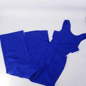 BCBGMAXAZRIA Rossana Royal Blue Cutout Jumpsuit